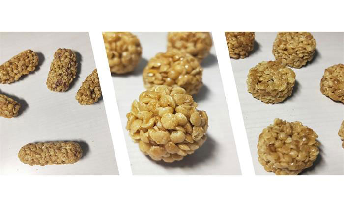 Popular Oat Crispy Produced By Snacks Bar Forming Machine in China