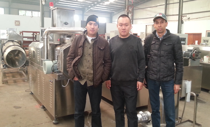 Welcome Turkmenistan Customer Visit Our Corn Flakes Machine
