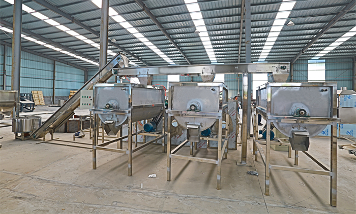 Auto Dosing System Of Pet Food Machine is Done