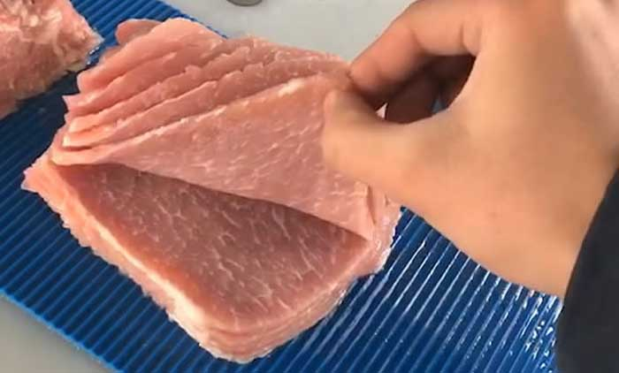 Meat Slicing Machine Is Being Tested